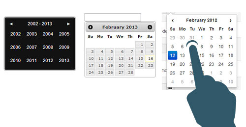 Date-picker ou selecteur de date
