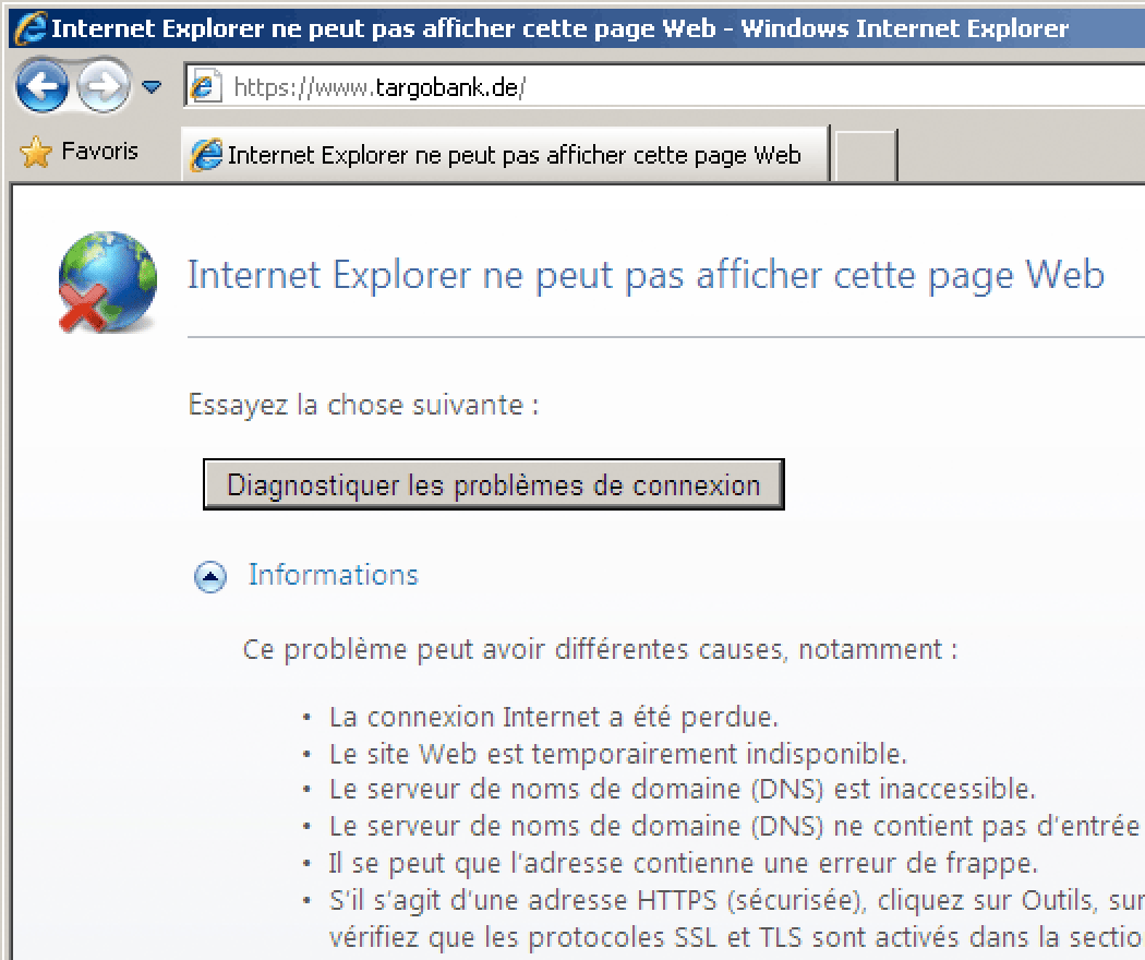 Https de ssl tls 1 3 for Probleme ouverture fenetre internet explorer