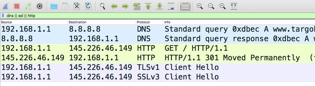 Détail réseau de la discussion entre le navigateur et le serveur